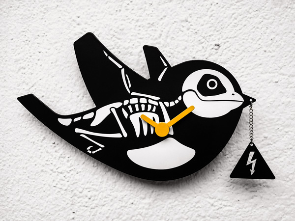 "Wall Clock ""Cuckoo 2.0 High Voltage"""